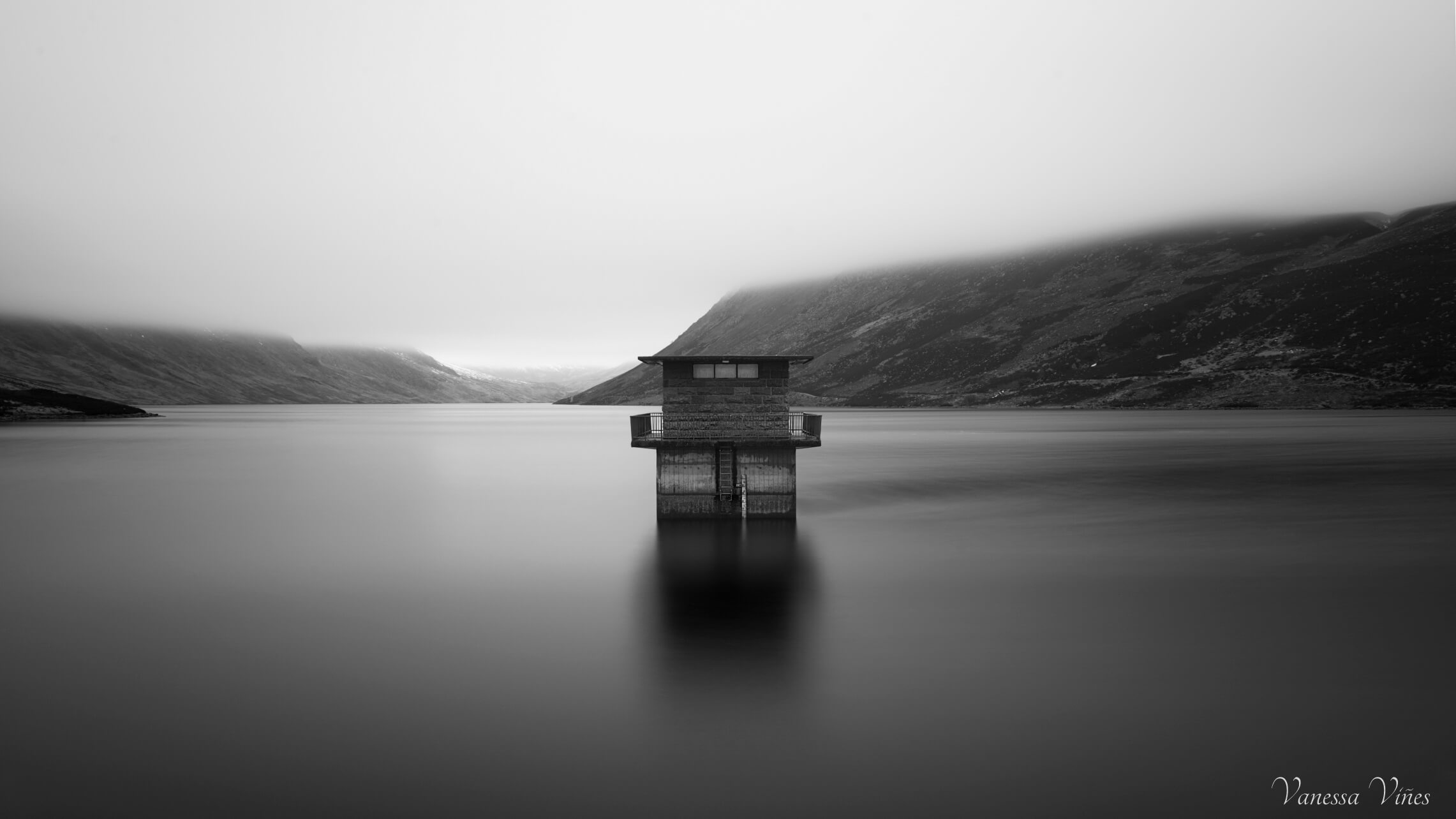 long exposure shot in Loch Turret